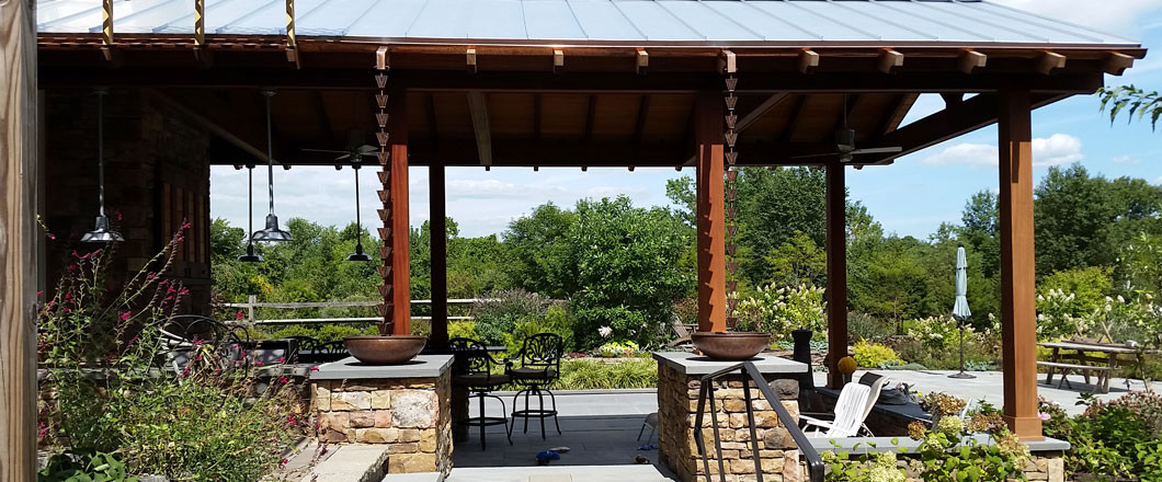 Check out this custom pergola / outdoor patio!